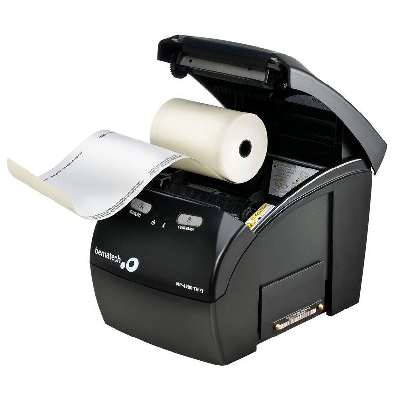 Bobina 80x40 Térmica Amarela 80mm para Impressoras: Bematech, Epson, Daruma, Elgin, Sweda C/30 Un