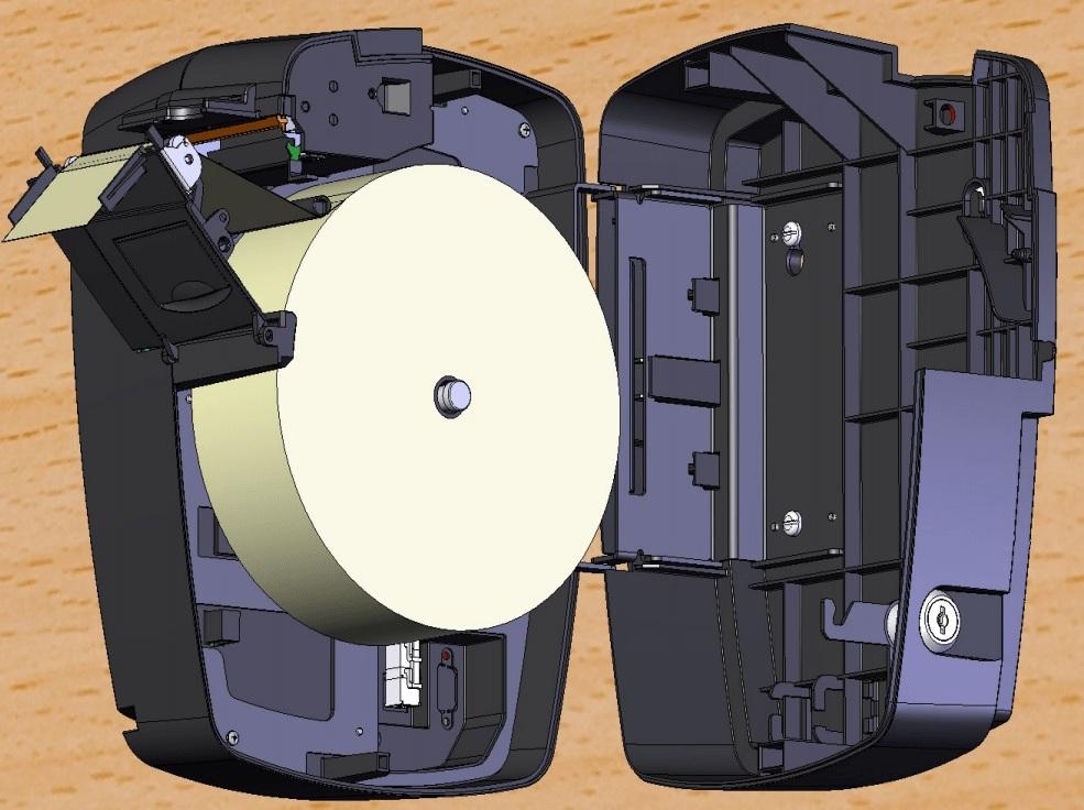 Bobina Térmica 57x100 Amarela Para Relógio De Ponto C/12 Unidades