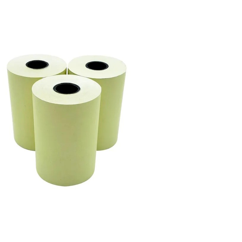 Bobina Térmica 57x30 Para Impressora Térmica 57mm 58mm Amarela 15 Unidades