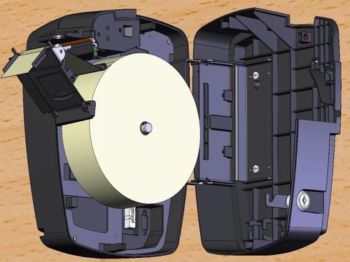 Bobina Térmica 57x360 Amarela P/ Relógio De Ponto C/2 Rolos
