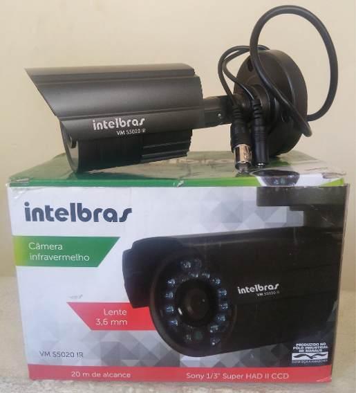 Câmera Ir Intelbras Vm S5020 3.6mm 20m Usada - Grafite