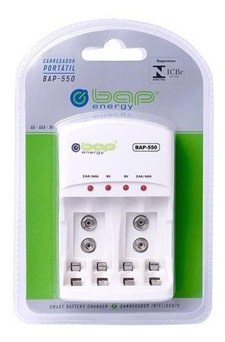 Carregador Portátil De Pilhas E Baterias Bap Energy 550