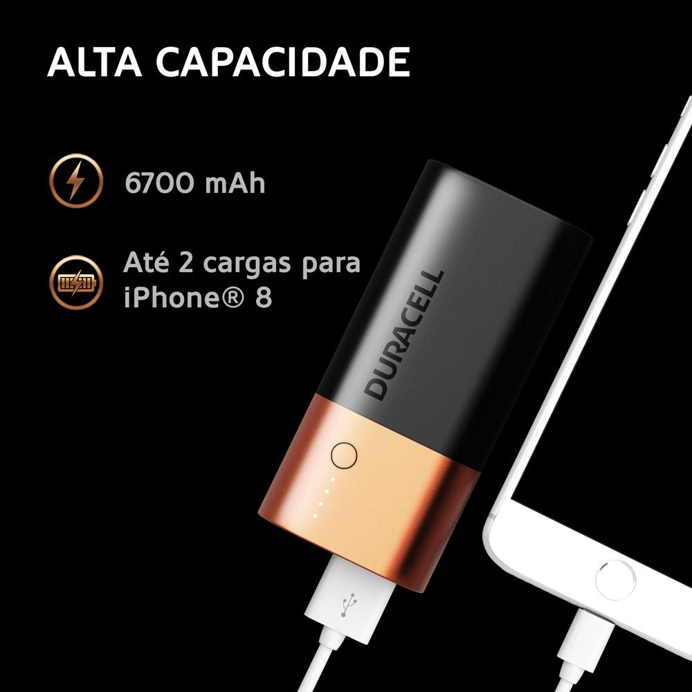 Carregador Portatil Duracell Power Bank 6700 Mah Dual Charge
