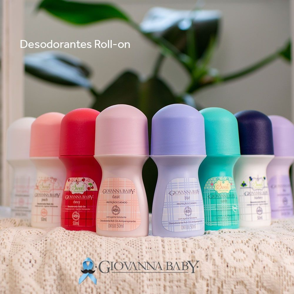 Desodorante Roll-on Giovanna Baby Blueberry 50ml Antiperspirante