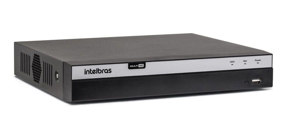 DVR Gravador de Vídeo MHDX 5108 Intelbras 8 Canais 4K Sem HD