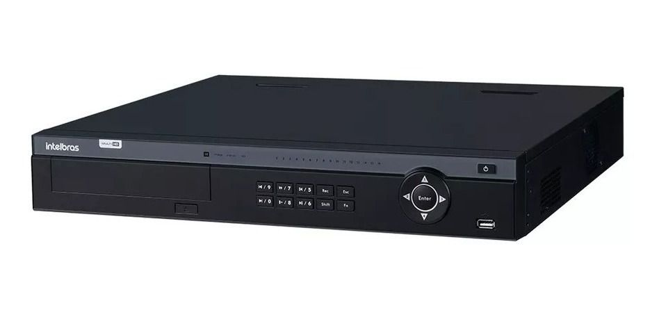 DVR Gravador MHDX 7116 Intelbras 16 Canais 4k HD 6 TB Purple