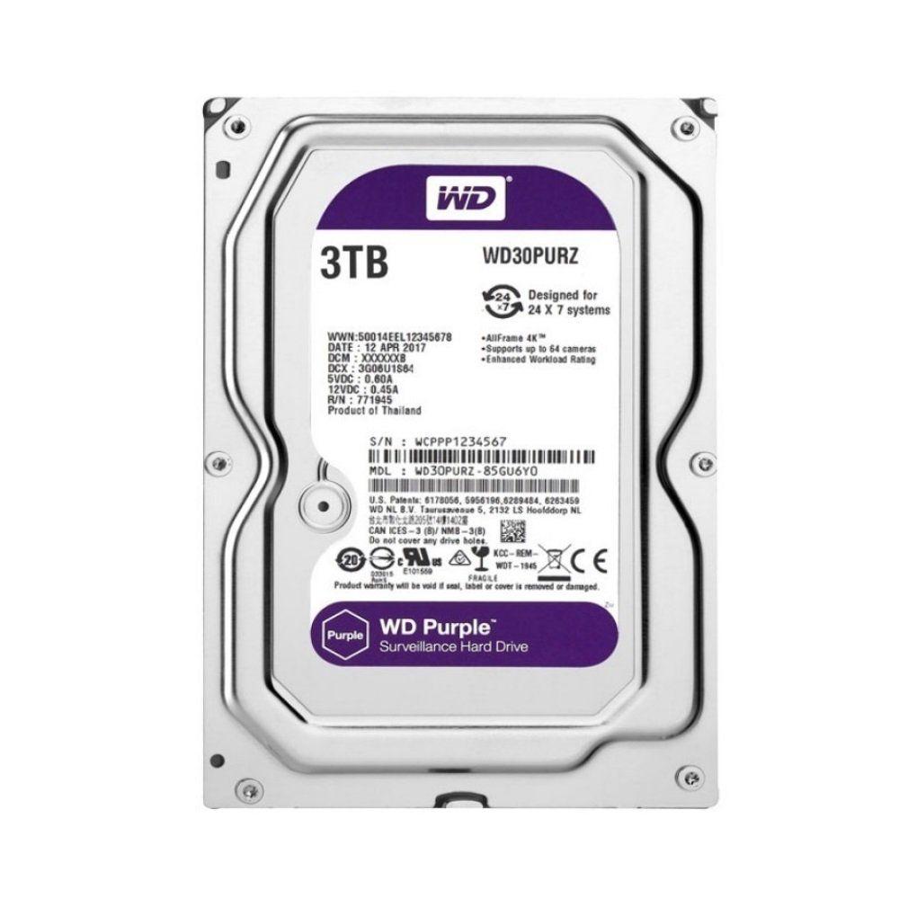 Hd Interno Wd Purple 3 TB Surveillance Sata 5400 Tf WD30PURZ