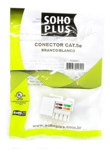 Keystone Furukawa Cat5e Soho Plus 10/100 Branco Lan Rohs C/ 6 Un