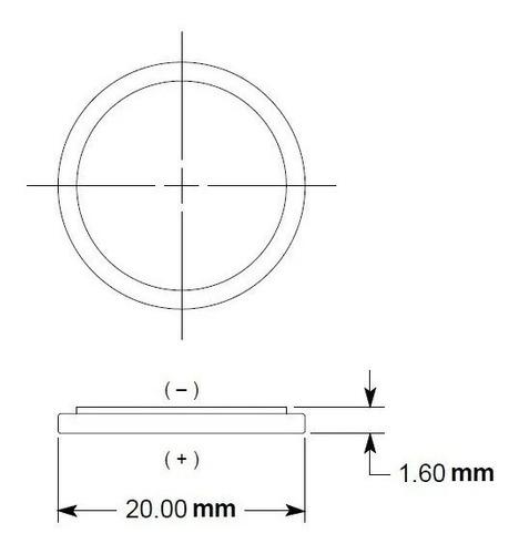Kit 10 Bateria Cr2016 Duracell 3v Pilha Botão Dl2016