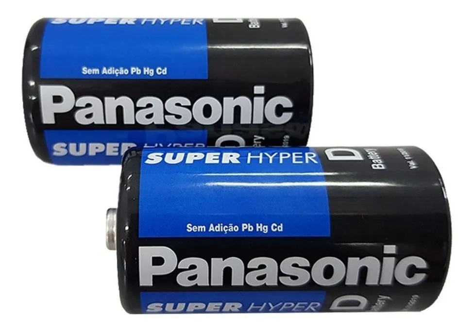 Kit 10 Pilhas Grande D Panasonic Comum R20 5 Cartelas C/2 Un