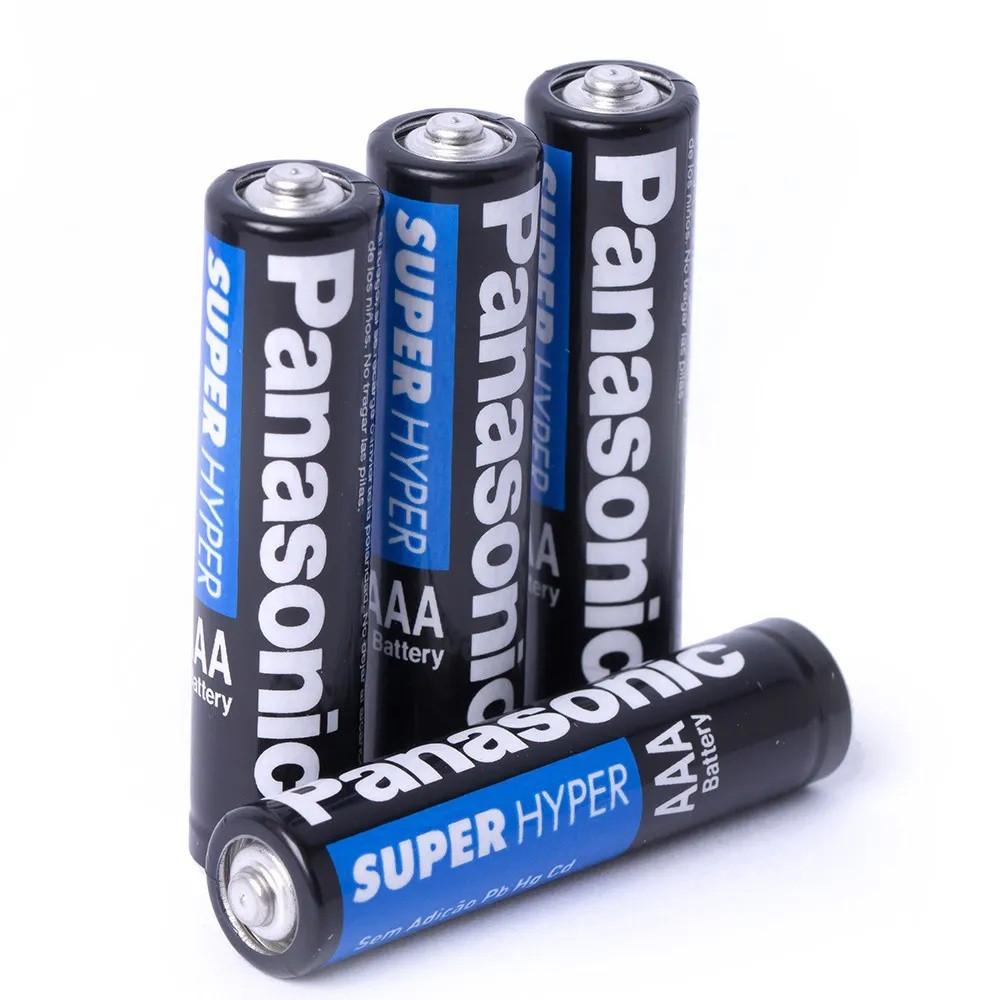 Kit 12 Pilha Palito Aaa Panasonic Comum Antivazamento Super Hyper Zinco