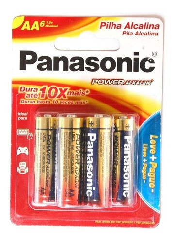 Kit 12 Pilhas Aa Alcalina Panasonic Pequena Leve 12 Pague 9