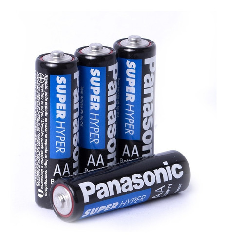 Kit 12 Pilhas AA e 16 Pilhas Aaa Panasonic Comum Super Hyper