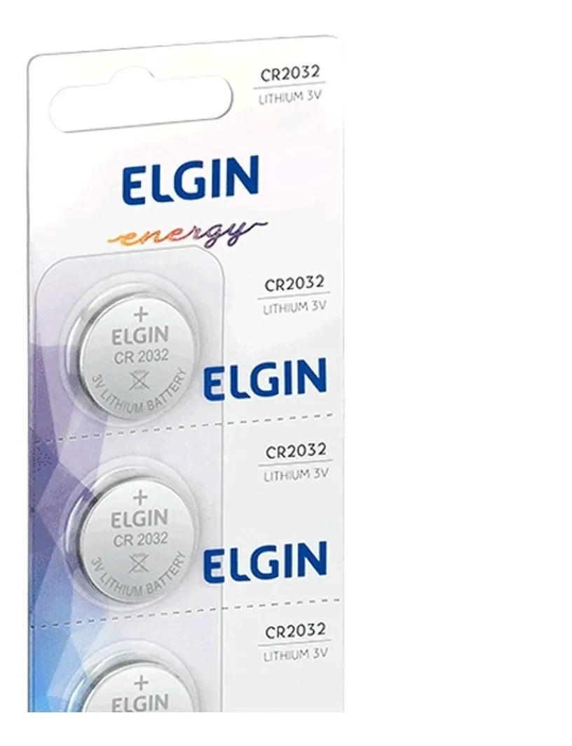 Kit 15 Baterias De Lítio Elgin Cr2032 3v Moeda Original
