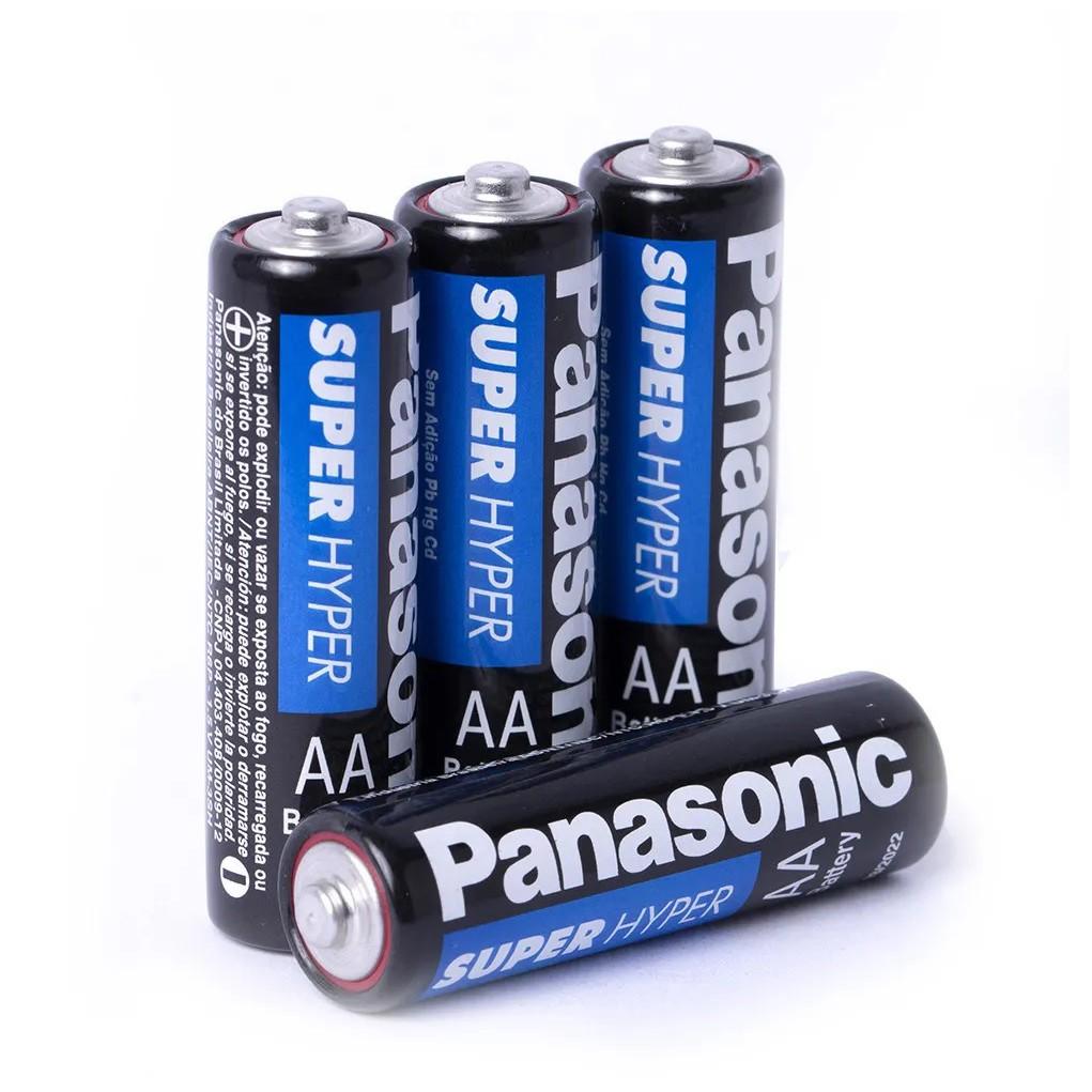 Kit 16 Pilhas AA Panasonic Comum 4 Cartelas C/4 Unidades