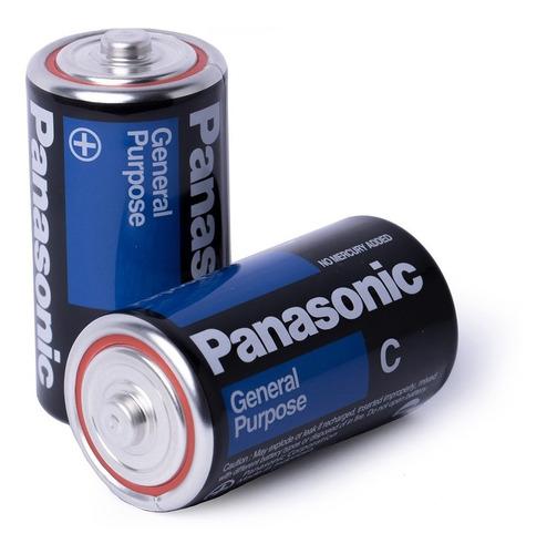 Kit 16 Pilhas C Média Comum Lr14 Panasonic 1,5v Brinquedos