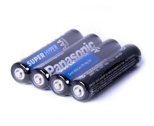 Kit 16 Pilhas Palito Aaa Panasonic Comum 2 Pilhas Média C