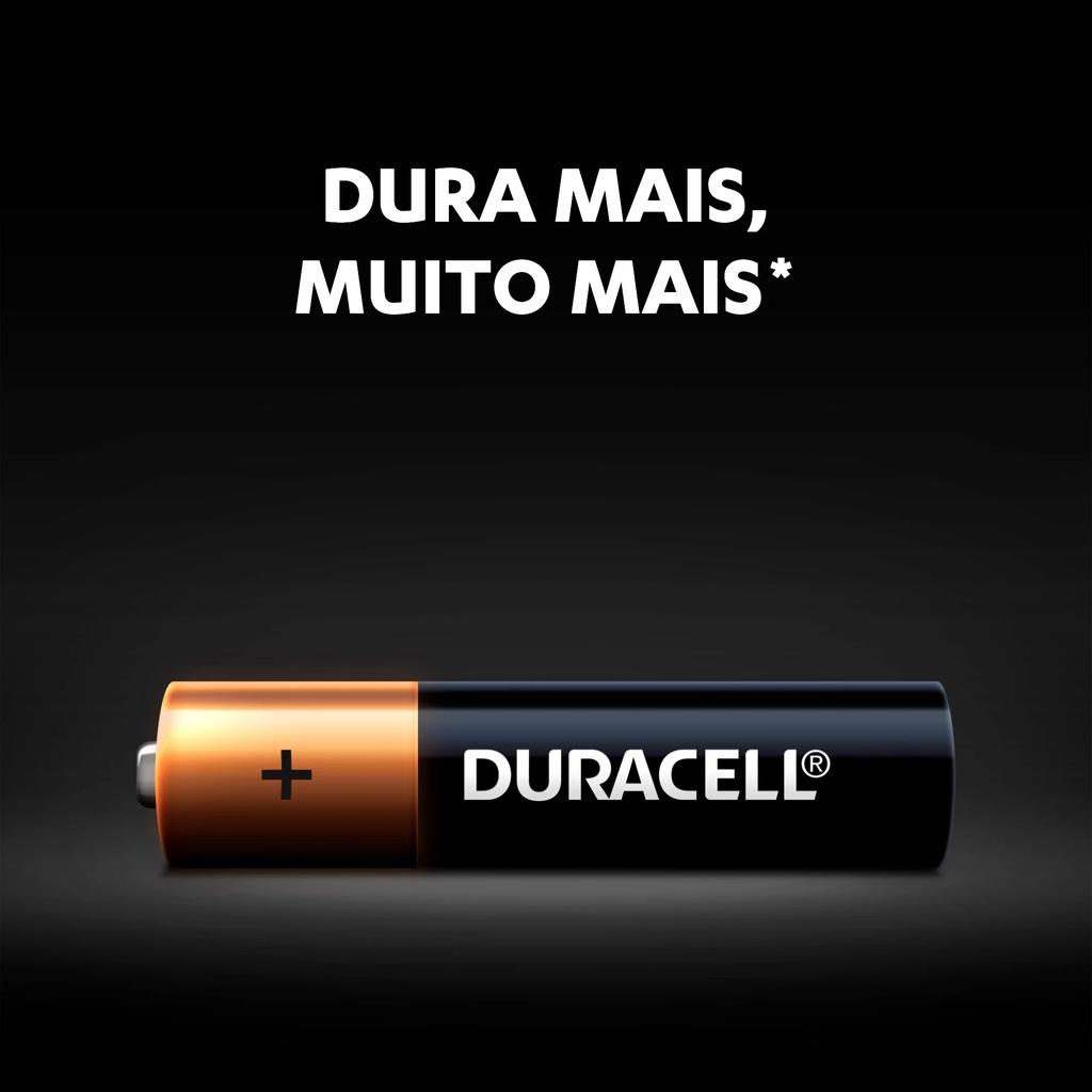 Kit 24 Pilha AAA Palito Alcalina Duracell C/2 Cartelas 6x2 Pilhas