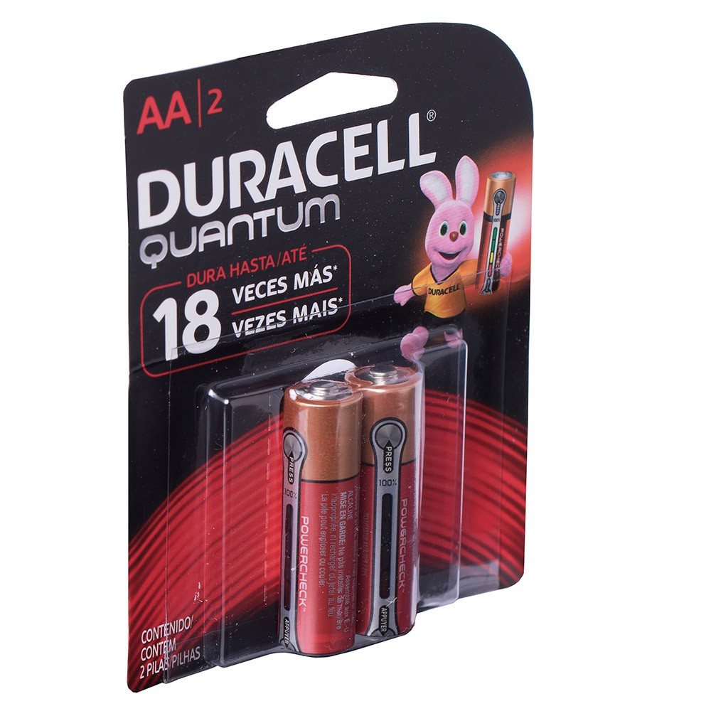 Kit 24 Pilhas Duracell Quantum Alcalina Aa Cartela C/ 2 Unid