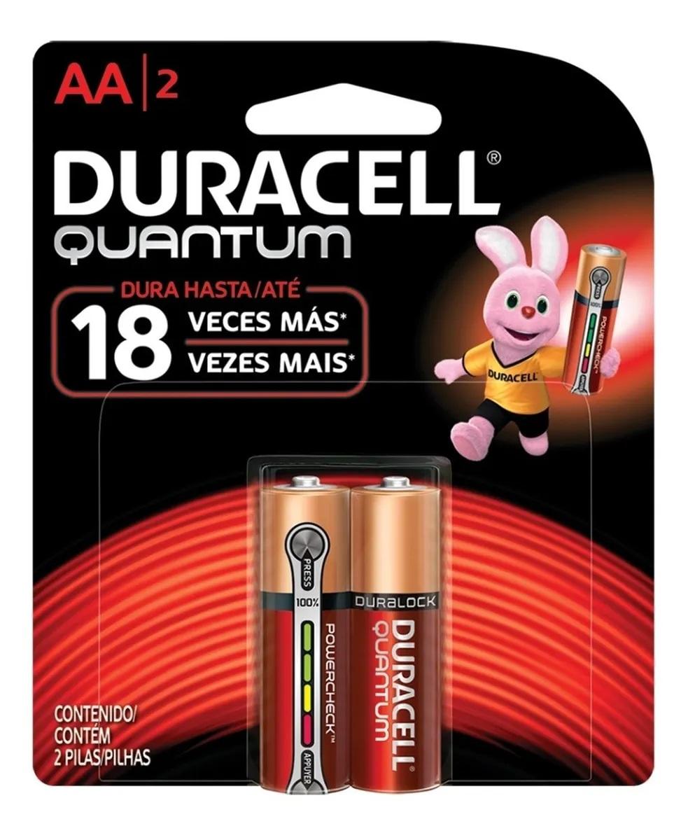 Kit 24 Pilhas Duracell Quantum Alcalina Aa 12 Cartelas C/2 Unidades
