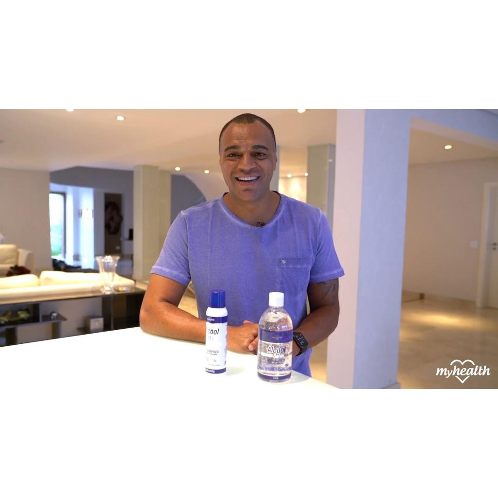 Kit 3 Alcool 70º Spray Antisséptico Myhealth 150ml Hidratante para Mãos