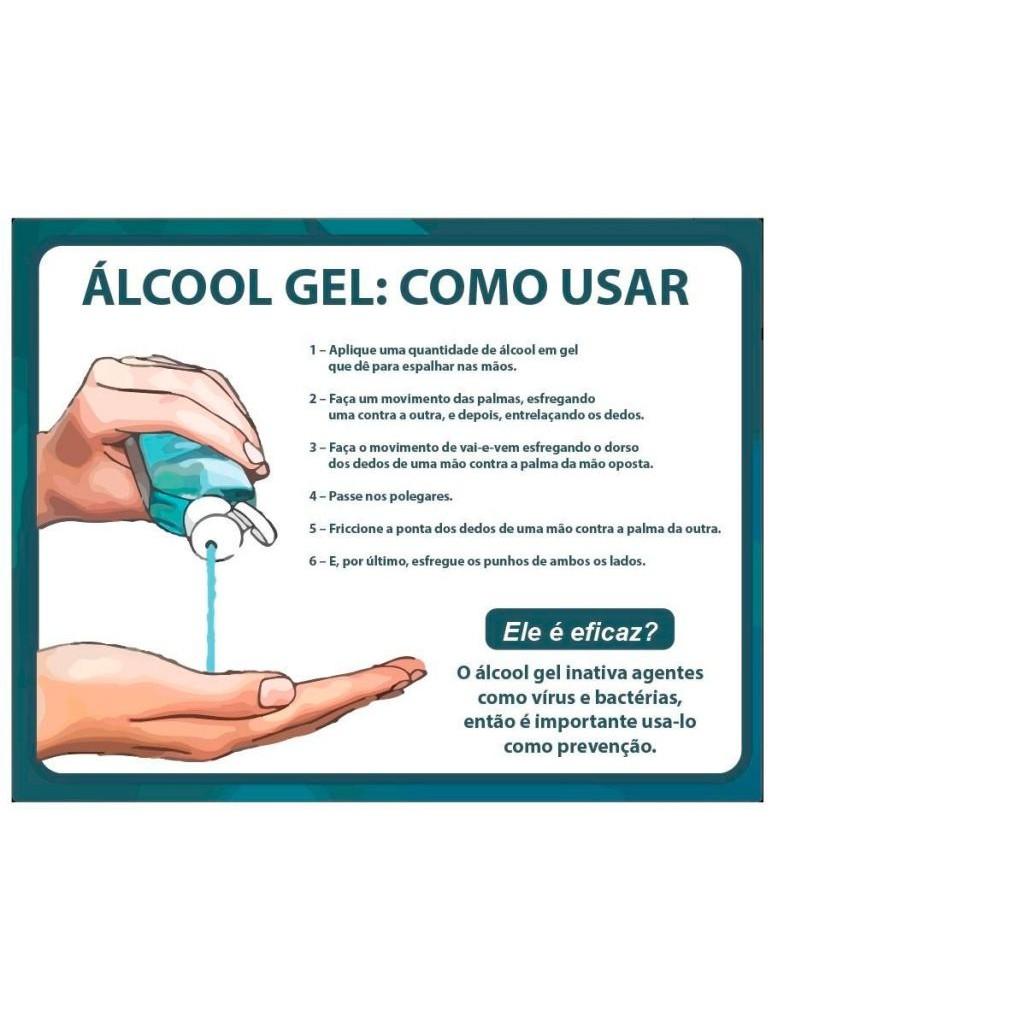 Kit 3 Álcool Gel 70% Vit Linne 100ml Higienizador de Mãos