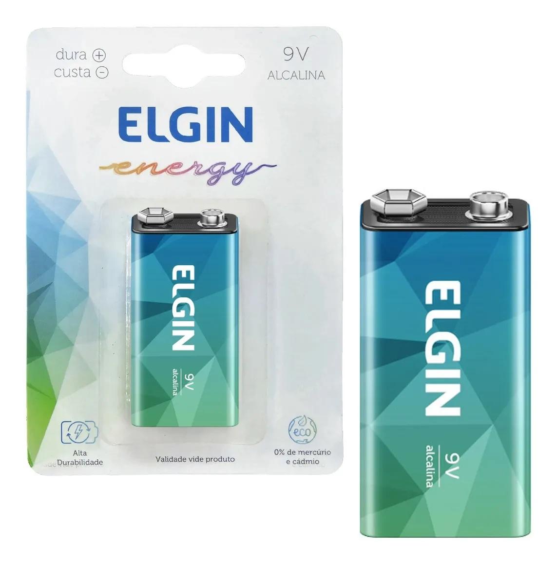 Kit 3 Baterias Alcalina 9v Elgin