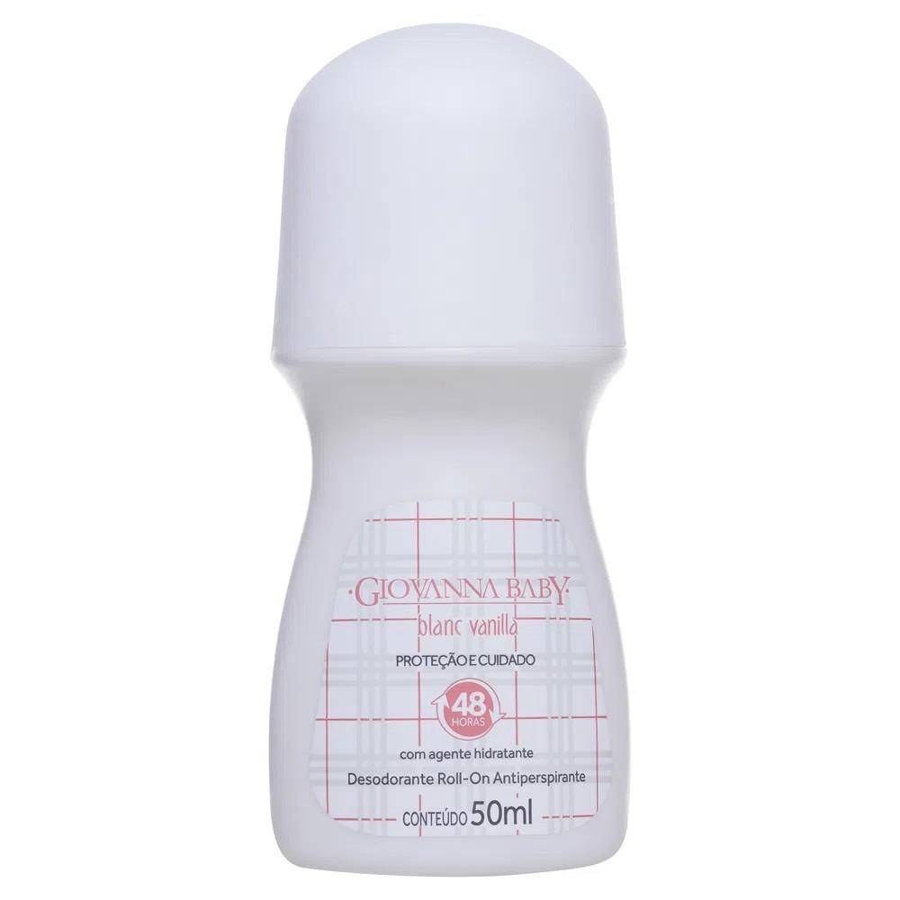 Kit 3 Desodorante Roll-on Giovanna Baby Blanc Vanilla 50ml Antiperspirante