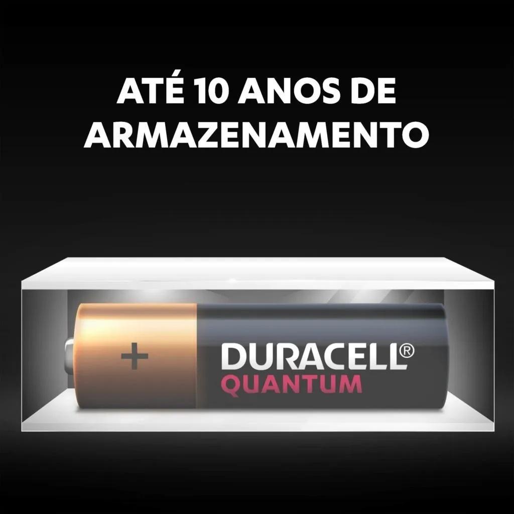 Kit 4 Pilhas Aa Quantum Duracell Alcalina 2 Cartelas C/2 Unid