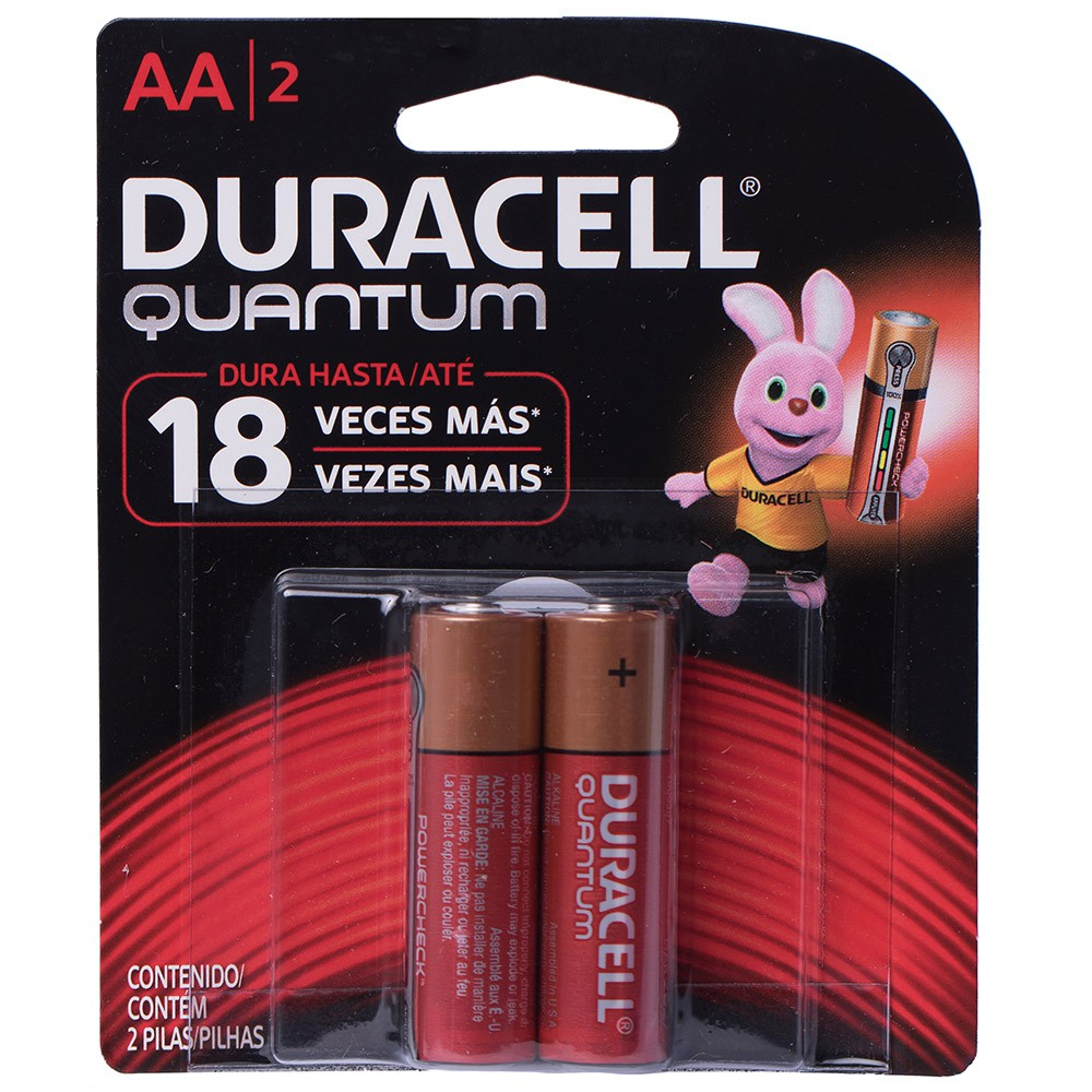 Kit 4 Pilhas Aa Quantum Duracell Alcalina Cartela C/ 2 Unid