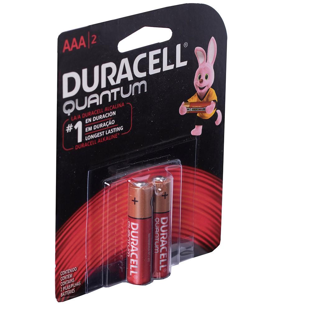 Kit 4 Pilhas Duracell Quantum Alcalina Aaa Cartelas C/2 Unid