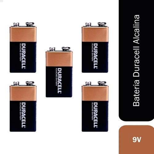 Kit 5 Pilha Bateria 9v Alcalina Duracell Original