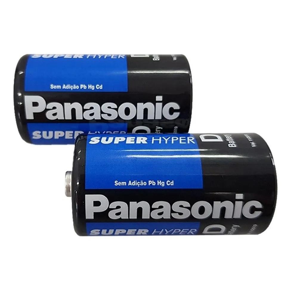 Kit 60 Pilhas Grande D Panasonic 3 Caixas 20 Unid Rádio Super Hyper