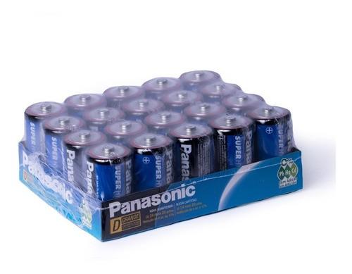 60 Pilhas Grande D Panasonic 3 Caixas c/20 Unidades Rádio