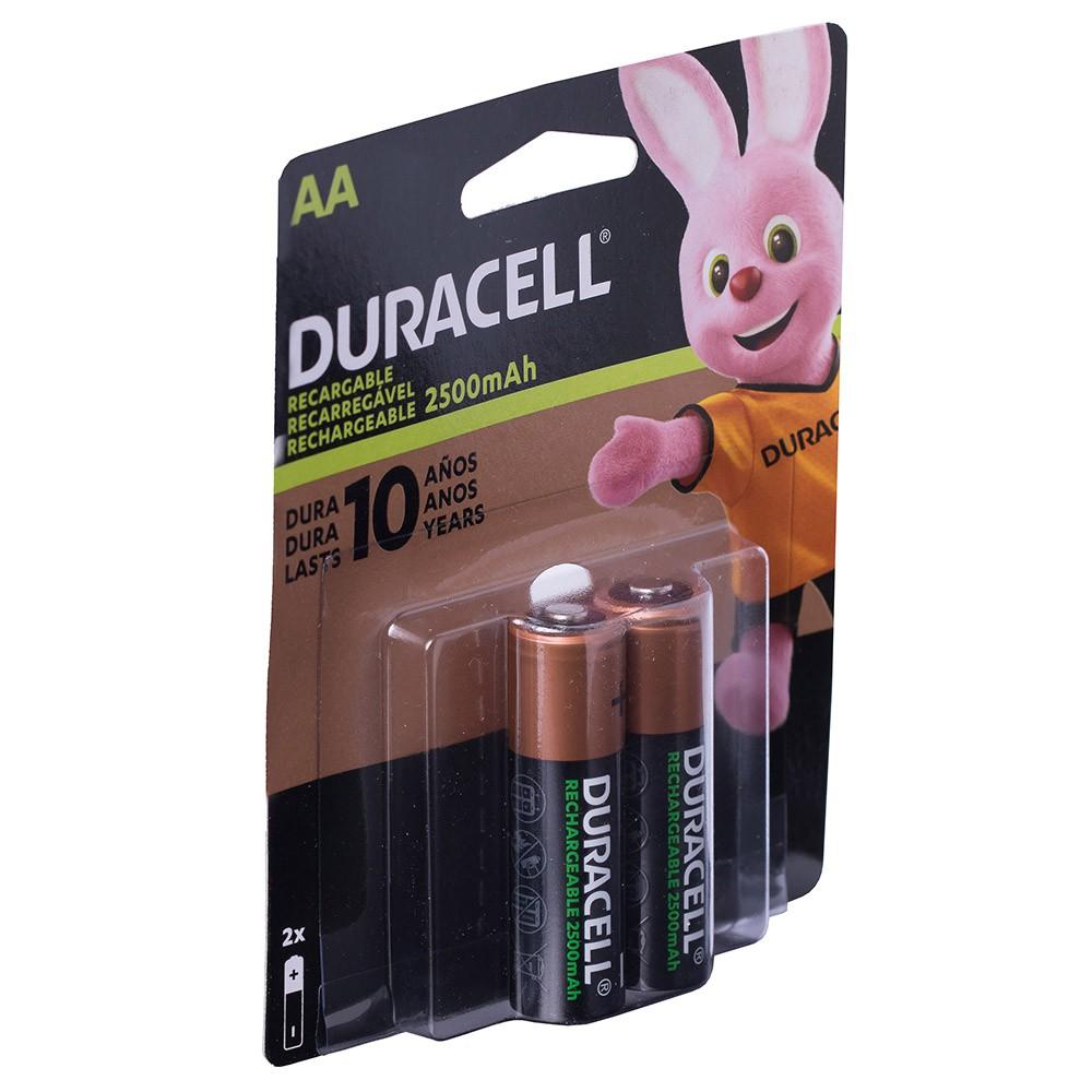 Kit 6 Pilhas Duracell Aa Recarregável 2500 Mah