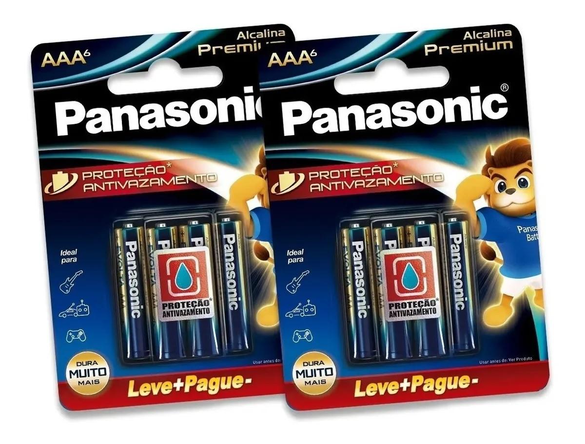 KIt 8 Pilha Aaa Panasonic Alcalina Premium Leve 8 Pague 6 Pilhas