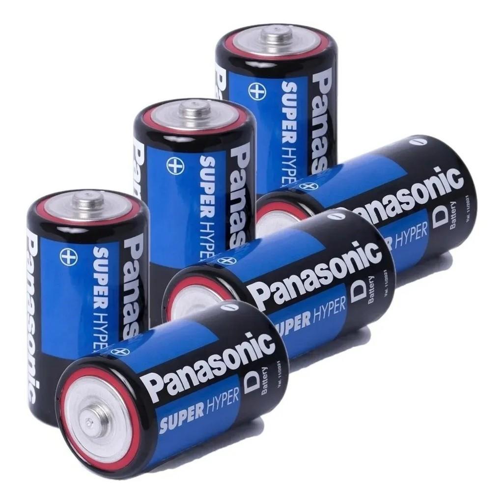 Kit 8 Pilhas Grande D Panasonic 4 Cartelas C/2 Unidades Rádio