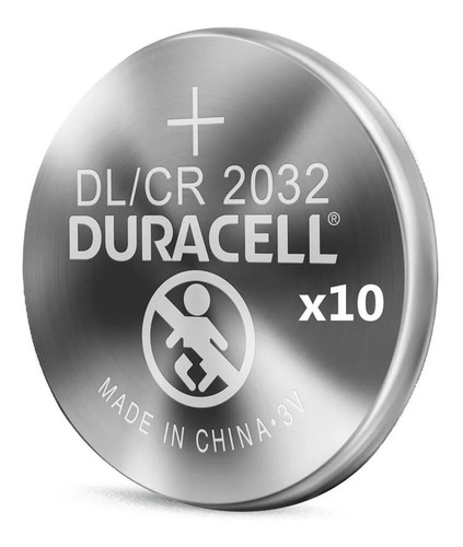 Kit 9 Bateria Dl2032 Cr2032 Duracell 3v Botão Moeda Original