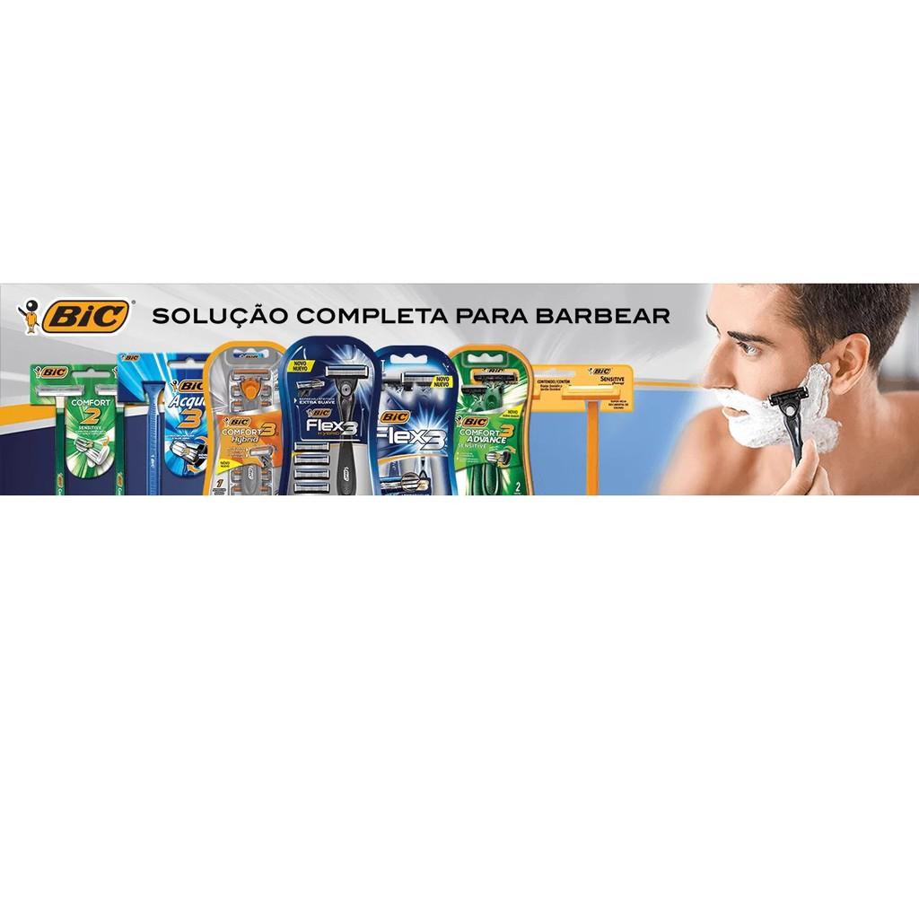 Kit Aparelho de Barbear Bic Comfort 3 Advance Black C/4 Unidades (Brinde Suporte Acústico Celular)