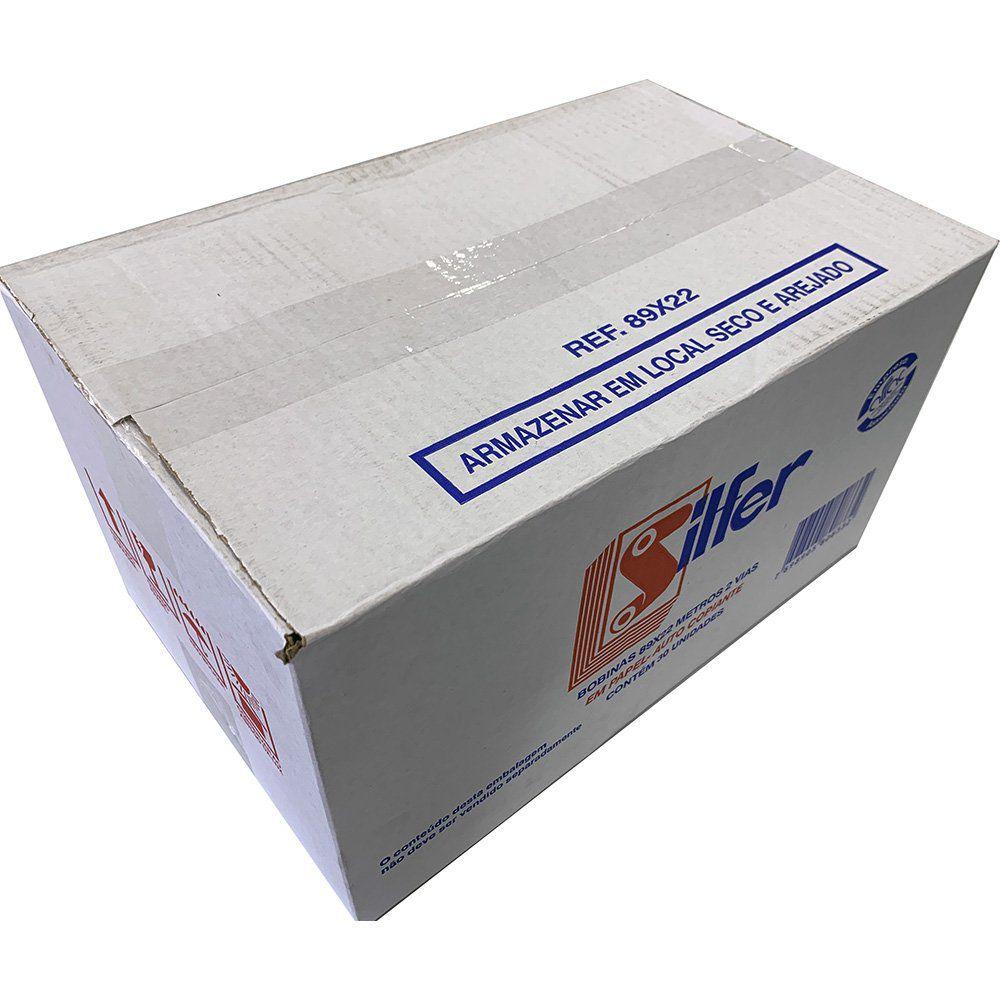 kit com 10 Bobinas PDV 89x22 2 Vias Silfer