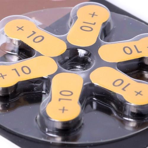 Kit Com 3 Pilhas Duracell Auditiva 10 Com 6 Unidades Cada