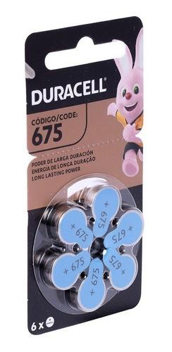 Kit Com 3 Pilhas Duracell Auditiva 675 Com 6 Unidades Cada