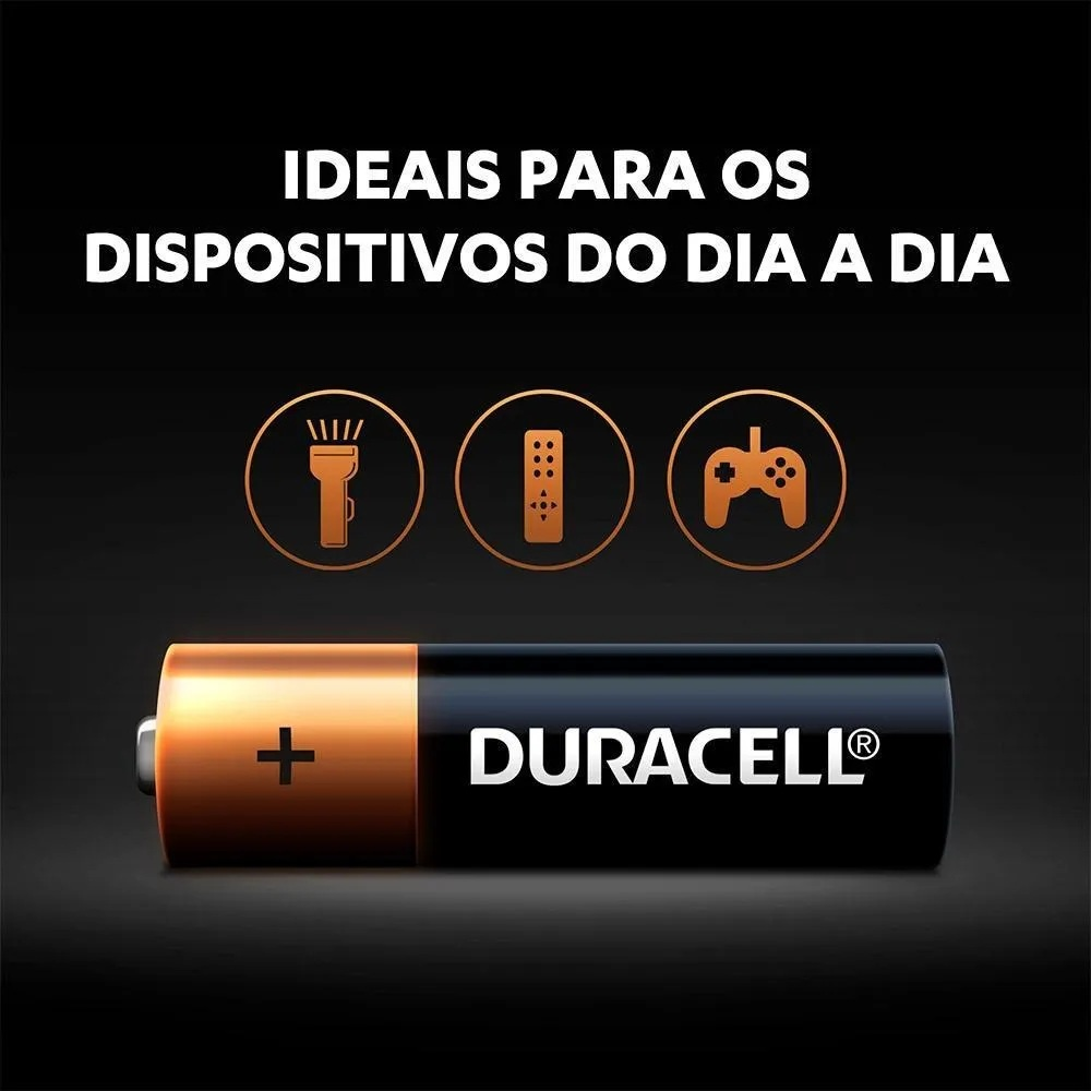 Kit Pilha AA 8 + AAA 8 Quantum Duracell Alcalina Leve 16 Pague 12 Pilhas