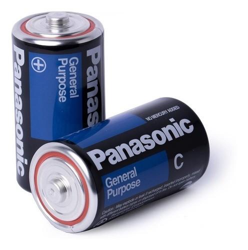 48 Pilha C Média Panasonic 2 Bandejas C/24 unidades Rádio Brinquedo Atacado