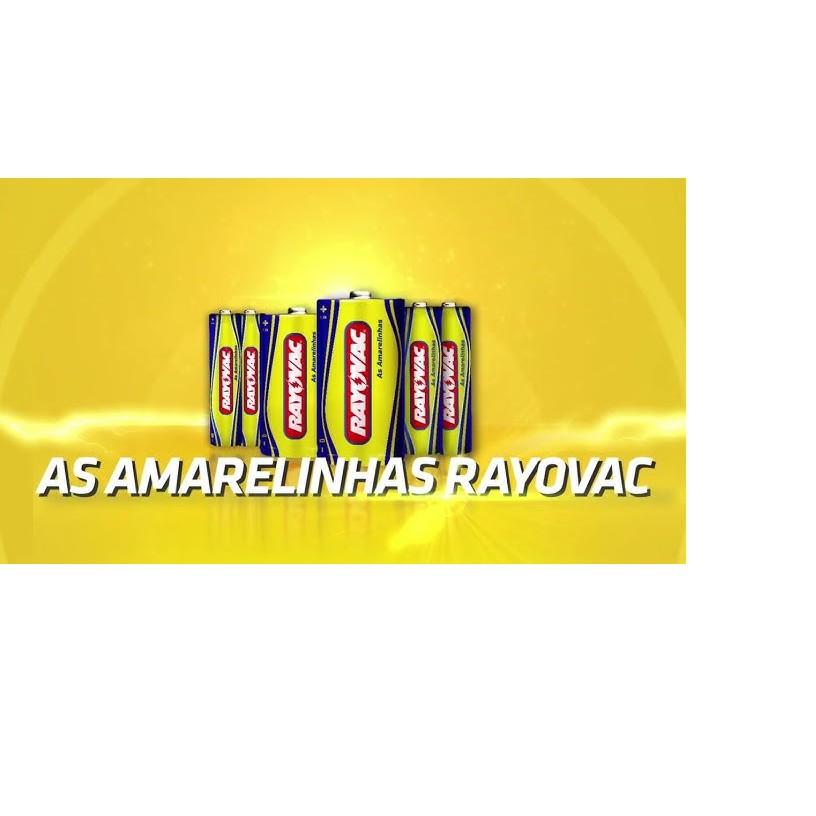 Kit Pilha Media C Rayovac 36 Unidades Comum As Amarelinhas