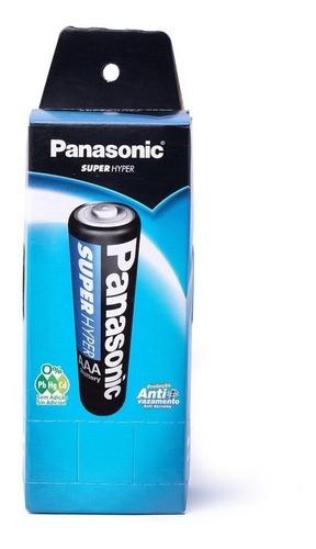 Kit Pilhas Panasonic Aa 2a 52 Un + Pilha Palito Aaa 3a 40 Un