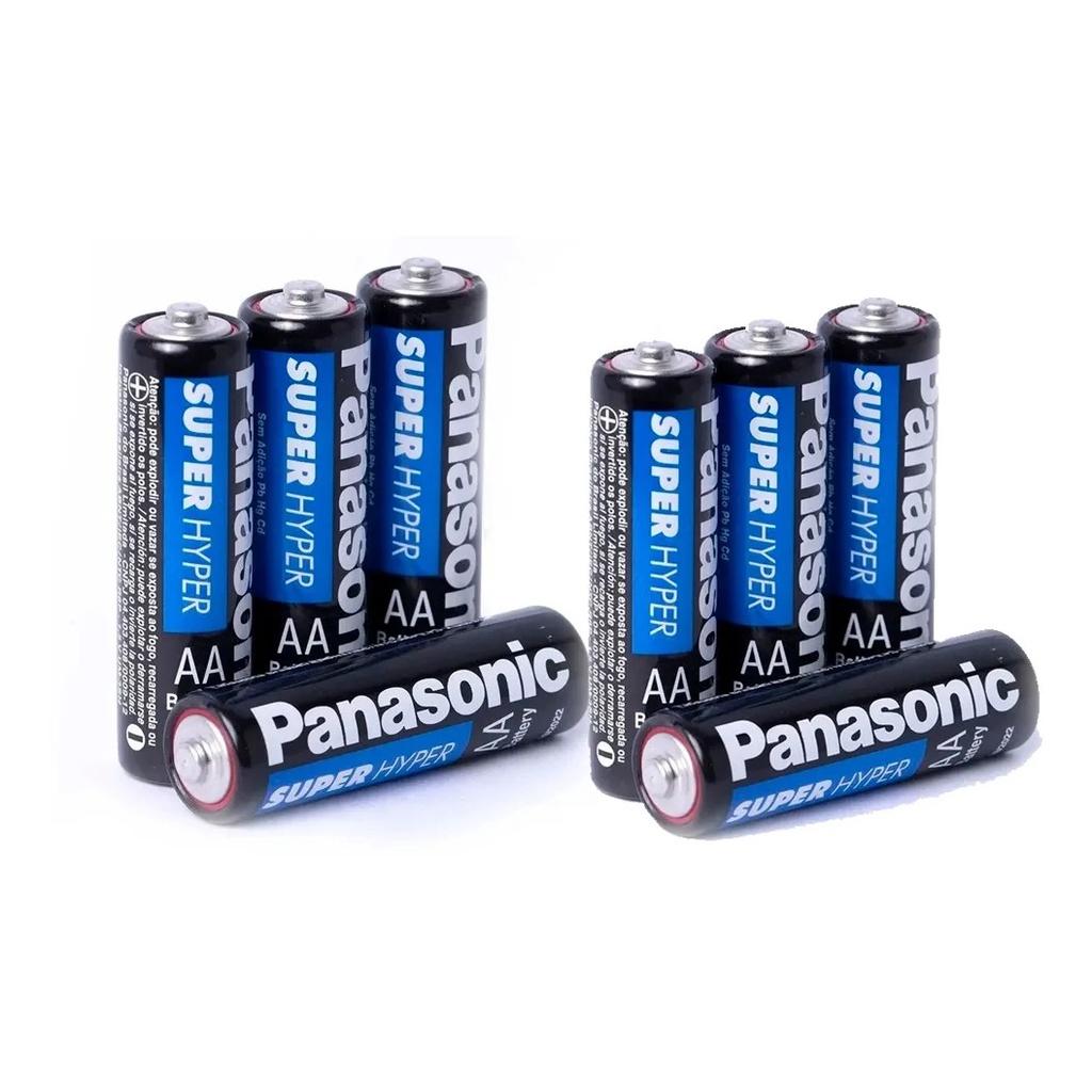 Kit Pilha Panasonic Aaa 12 Un + Aa 8Un Comum Zinco Original