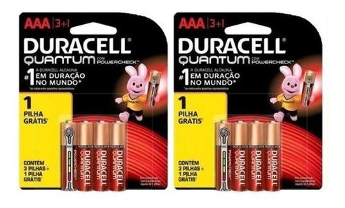 Kit Pilha Quantum Duracell 24 Aa e 24 Aaa Alcalina