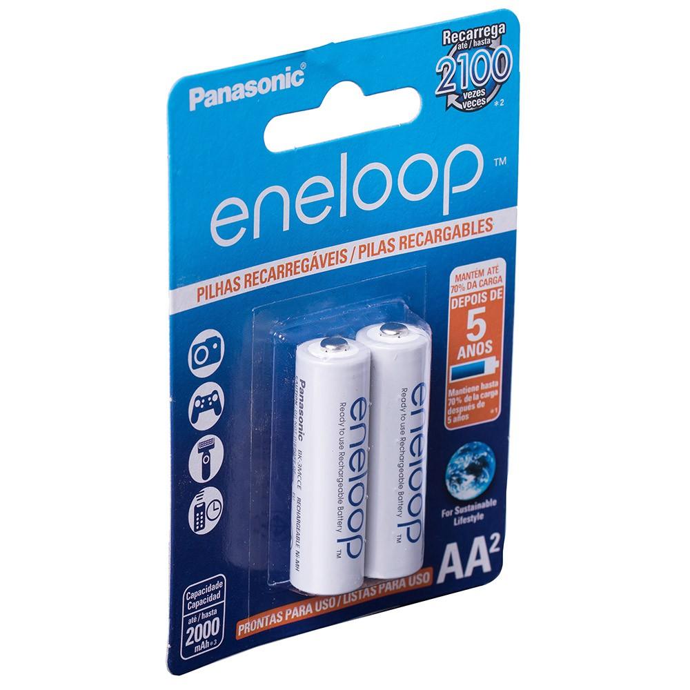 Kit Pilhas Recarregáveis 2 Aa + 2 Aaa Panasonic Eneloop
