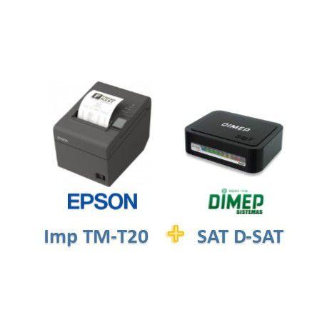 Kit SAT Fiscal D-SAT 2.0 Dimep + Impressora TMT20 Epson USB